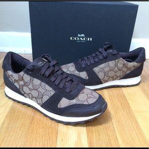 COACH 'Mason' Signature Jacquard Suede Sneakers